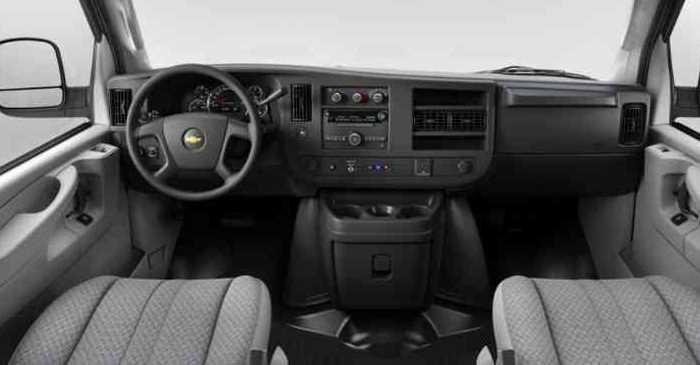 2022 Chevrolet Express Interior